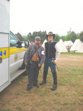 David Beachboard and Robert Hayden in period costume